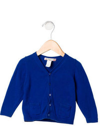 Bonpoint Girls Long Sleeve Rib Knit Cardigan