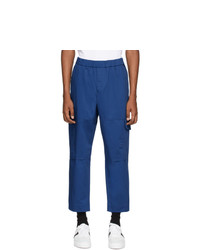 Kenzo Blue Gabardine Cargo Pants