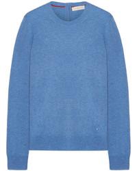 Tory Burch Iberia Cashmere Sweater Blue