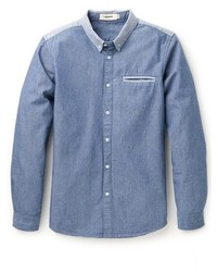 Blue Chambray Dress Shirt