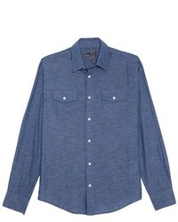 Chambray sport shirt medium 142121