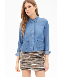 Forever 21 Contemporary Life In Progress Chambray Shirt