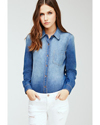 Forever 21 Faded Chambray Shirt