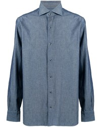 Barba Long Sleeved Classic Collar Shirt