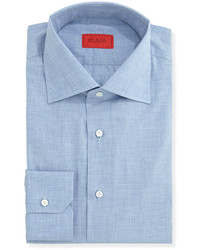 Woven chambray solid dress shirt light blue medium 120439