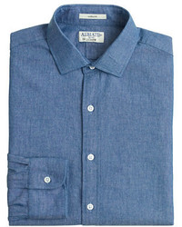J.Crew Albiate 1830 For Ludlow Slim Fit Spread Collar Shirt In Italian Chambray