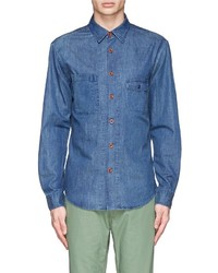 Alex Mill Cotton Linen Chambray Potrero Shirt