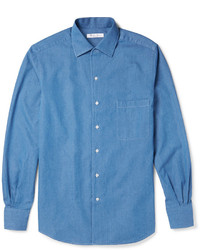 Loro Piana Andre Cotton Chambray Shirt