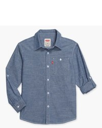 Levi's Boys Long Sleeve Woven One Pocket Shirt