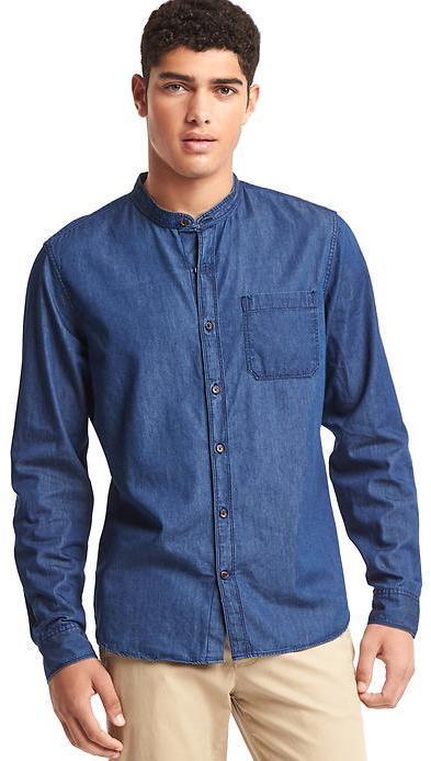 Gap Chambray Banded Shirt