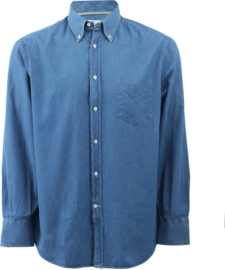 Brunello Cucinelli Chambray Button Down Shirt