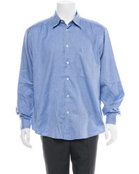Brioni Chambray Button Up Shirt