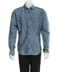 Bottega Veneta Chambray Button Up Shirt