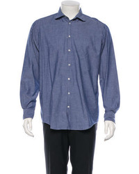 Massimo Alba Chambray Button Up Shirt W Tags