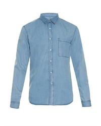 Ami Chambray Cotton Denim Shirt