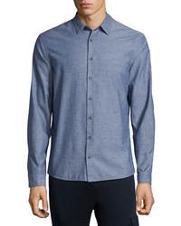 ATM Anthony Thomas Melillo Chambray Long Sleeve Shirt Navy