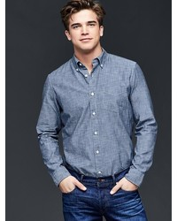 Gap Clean Chambray Standard Fit Shirt