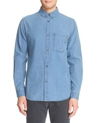 Clift long sleeve chambray shirt medium 678144