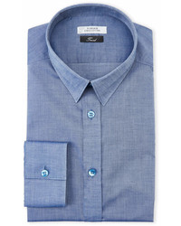 Versace Collection Blue Chambray Trend Fit Dress Shirt