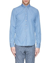 Canali Cotton Chambray Shirt