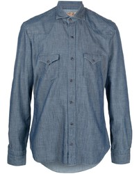 Barba Cotton Denim Shirt