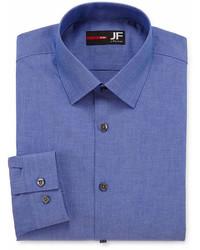 JF J.Ferrar Easy Care Stretch Long Sleeve Broadcloth Dress Shirt