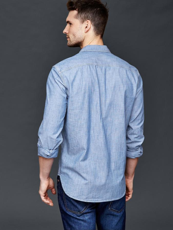 46635b34fc6 Gap 1969 Icon Worker Chambray Shirt