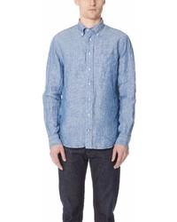 Gitman Brothers Gitman Vintage Long Sleeve Linen Chambray Shirt