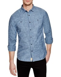 Jachs Ny Chambray Regular Fit Button Down Shirt