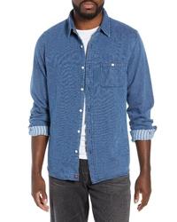 The Normal Brand Jonathan Regular Fit Indigo Double Cloth Sport Shirt