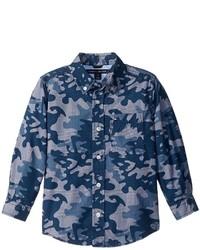 Tommy Hilfiger Kids Glen Camo Printed Shirt Boys Clothing
