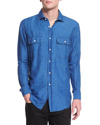 Ralph Lauren Long Sleeve Chambray Shirt Denim