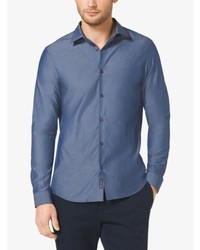 Michael Kors Michl Kors Slim Fit Chambray Shirt