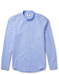 Nn07 Samuel Cotton And Linen Blend Chambray Oxford Shirt