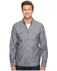 Fjallraven Ovik Chambray Shirt Long Sleeve Button Up