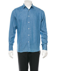 Pistols At Dawn Chambray Button Up Shirt