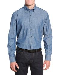 PETER MILLAR COLLECTION Regular Fit Chambray Sport Shirt