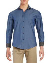 Hugo Boss Ridley Chambray Point Collar Shirt