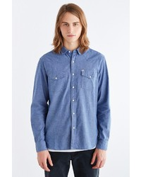 Urban Outfitters Salt Valley Chambray Western Button Down Shirt