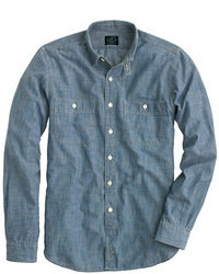 Selvedge japanese chambray utility shirt medium 99252