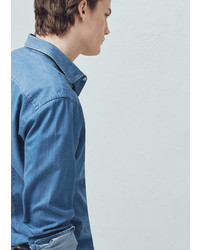 Mango Outlet Slim Fit Cotton Chambray Shirt