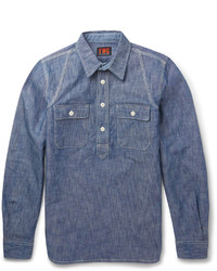 The workers club slim fit cotton chambray shirt medium 678146