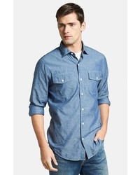 Vince Slim Fit Chambray Sport Shirt