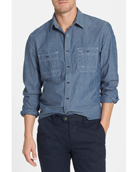 Wallin Bros Workwear Trim Fit Chambray Sport Shirt