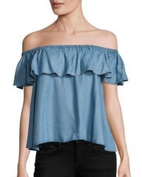 Rebecca Minkoff Chambray Dev Off The Shoulder Top