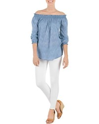 Mud Pie Chambray Off Shoulder Top