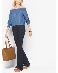 Michael Kors Michl Kors Chambray Off The Shoulder Top