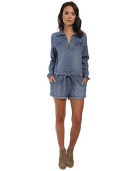 Free People Chambray Drapey Shortall