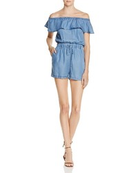 Ppla Colt Chambray Off The Shoulder Romper