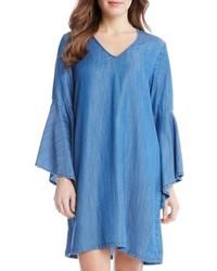 Blue Chambray Shift Dress